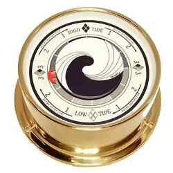 Solid Brass Tide Clock : 'The Wave', Downeaster Wind & Weather
