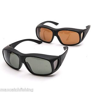 Free shipping polarized fit over fly fishing sunglasses 2 for Best fishing sunglasses under 50