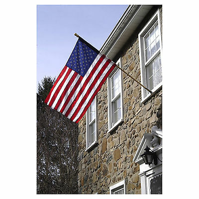 Used, Tradewinds 5 Foot Wooden Flag Pole w/ 3x5 embroidered USA American sleeve Flag for sale  Shipping to United Kingdom