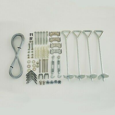 Palram Greenhouse Accessories Anchoring Kit Suitable on Grass Wood Concrete