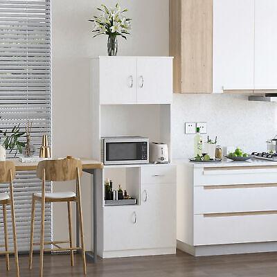 Freestanding Kitchen Cabinet Storage Unit Pantry Cupboard Organiser White