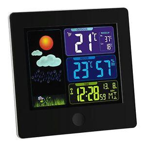 SUN Funk Wetterstation P Wecker Uhr-Wettervorhersage mit Symbolen, Snooze