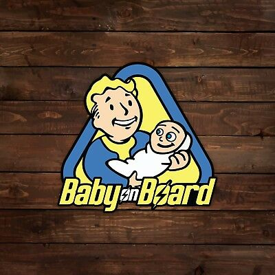 Vault Boy Baby on Board (Fallout) Decal/Sticker