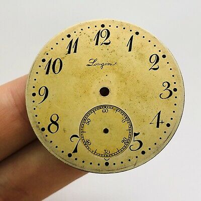 ULTRA RARE LONGINES Clock Face Dial Pocket Watch Swiss Vintage Men's Old