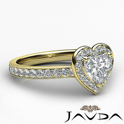 Cathedral Halo Pave Setting Heart Cut Diamond Engagement Ring GIA F VVS2 1.16Ct 2