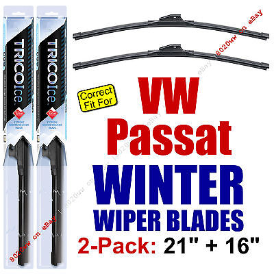 WINTER Wiper Blades 2-Pack Premium fit 1990-1996 VW Volkswagen Passat 35210/160 1990 Vw Passat Wiper