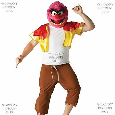 Muppet Show Halloween Costumes (100% DISNEY THE MUPPET SHOW ANIMAL ADULTS OUTFIT - MENS HALLOWEEN PARTY)