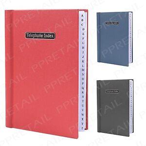 Office Directory Telephone Book ~A-Z INDEX~ Desktop Records Address Hard Back