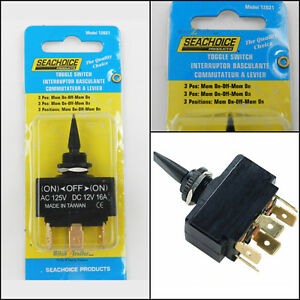 Toggle Switch 3 Position Momentary On - Off - Mom. On Boat Marine Trim Tab 12031