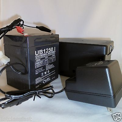 Weatherproof 12Volt Rechargeable Portable Battery Power Pack W 12V Charger W Led