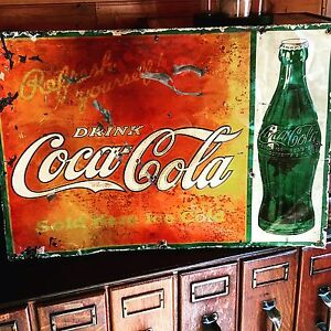 Antique Coca Cola sign