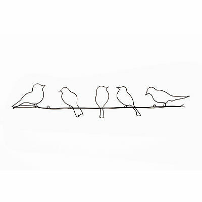 Art for Home Birds On A Wire Metal Wall Art