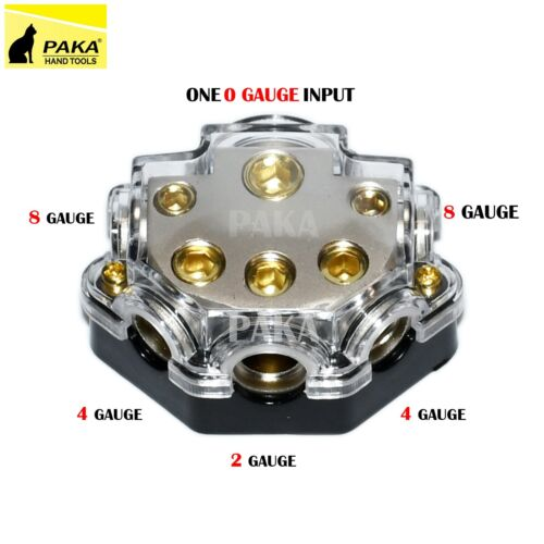 1/0 Gauge To 2-4-8 Gauge Power/Ground Distribution Block (1 pc)