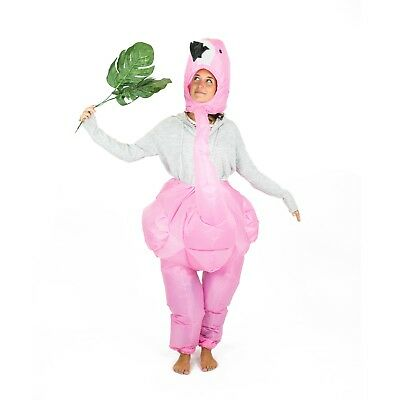 Adult Inflatable Pink Flamingo Animal Costume Outfit Suit Halloween One Size](Animal Suit Costumes)