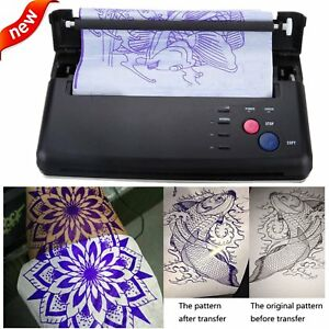 Pro Black Tattoo Transfer Copier Printer Machine Thermal Stencil Paper Maker BP