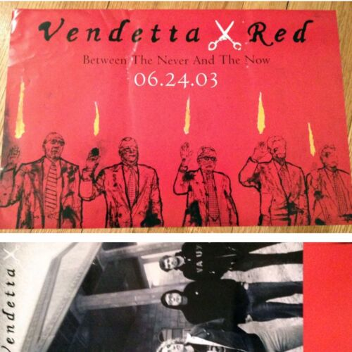 VENDETTA RED Double Sided 11x17 Promo Poster BETWEEN NEVER NOW 2003 Screamo - $12.99