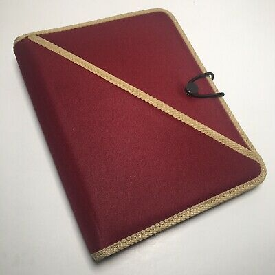 Day-timer Red Classic Desk Planner Organizer Binder Fits Franklin Covey