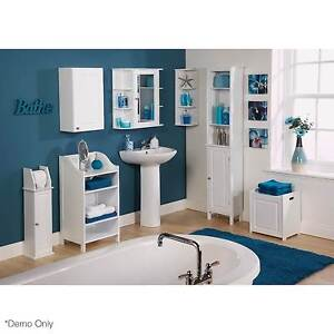 Dignity Tall Bathroom Unit in WHITE North Melbourne Melbourne City Preview