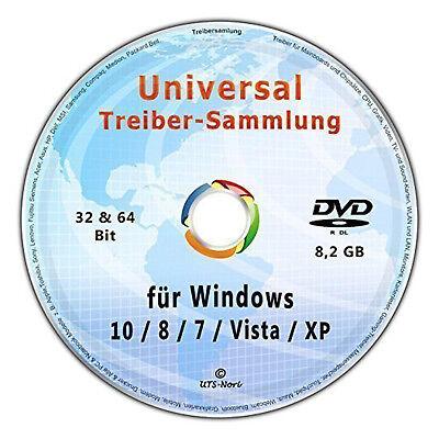 Universal Treiber-Sammlung CD/DVD für Windows 10-8-7-Vista-XP (32 & 64 Bit) ()