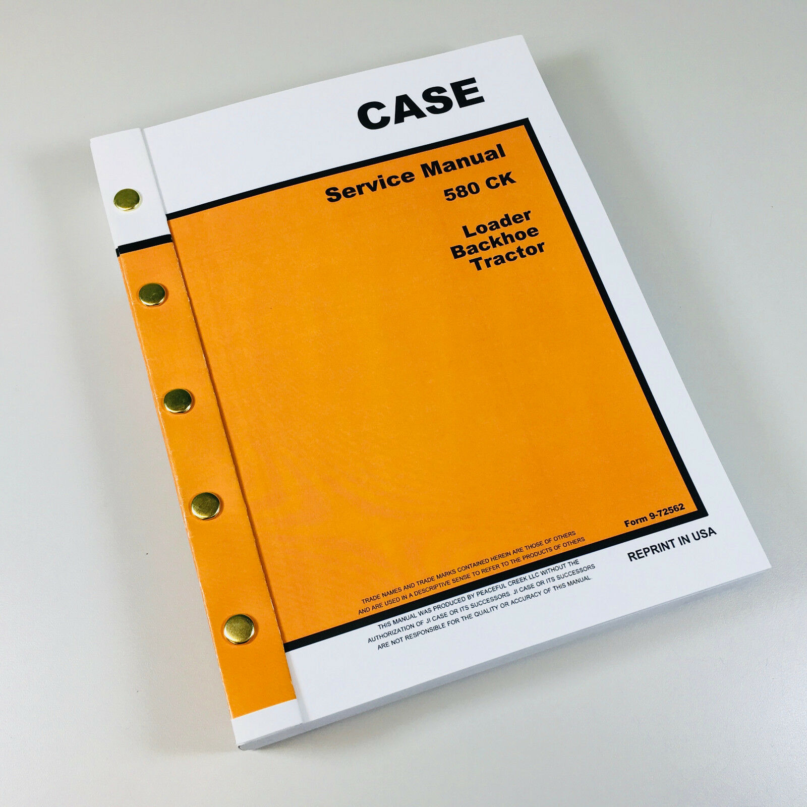 case 580c backhoe repair manual
