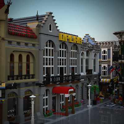 Moc Modular Opera House Costum Lego Building Instructions Pdf Files