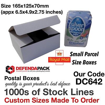 700 White Die Cut Cardboard SMALL PARCEL PiP Postal Boxes 165x125x70mm DC642
