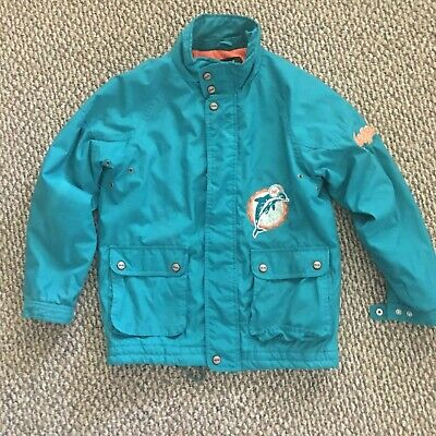 Miami Dolphins Store Official Merchandise Windbreaker Jacket (14/16 L) (Miami Dolphin Store)