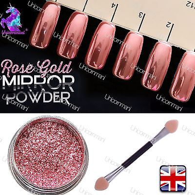 ROSE GOLD 100% REAL Mirror Powder Rose Gold Chrome Effect Pigment PREMIERE! (w)