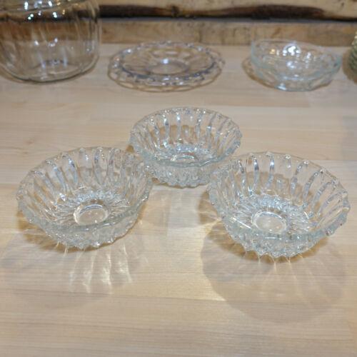 Set of 3 Cut Crystal Dessert Fruit Berry Trinket Bowls - Swanky Barn