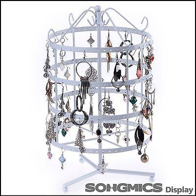 Songmics Schmuckständer Schmuckhalter Ohrringhalter Kettenständer Weiß 777JDS055