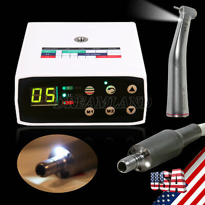 Dental Brushless Electric Led Micro Motor15 Fiber Optic Handpiece Contra Angle