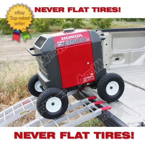 Wheel Kit for Honda Generator EU3000is - SOLID NEVER FLAT TIRES - All Terrain!!