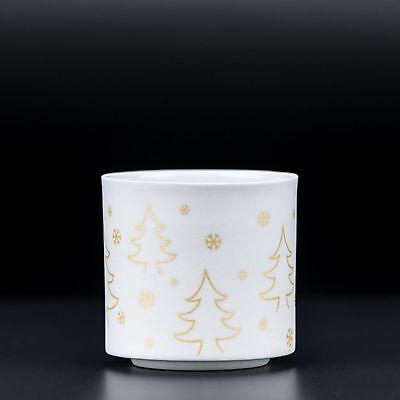 Vidrio para Candelita Té Soporte Navidad Candelero Cristal Porcelana Blanco