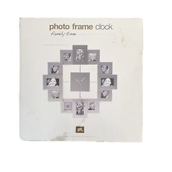 Present Time Photoframe Wall Clock FAMILY TIME PHOTO CLOCK 12 Picture PHOTOS