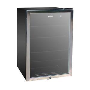 Haier 150 Can Beverage Mini Fridge Refrigerator Glass Door Cooler