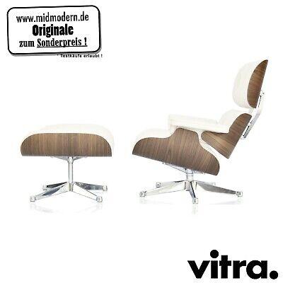 vitra Eames Lounge Chair XL + Ottoman Nussbaum weiss / Leder Premium Snow  segunda mano  Embacar hacia Spain
