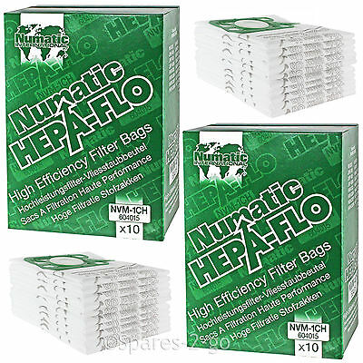 20 Genuine Numatic HENRY HETTY Bags HEPA FLO HEPAFLO Vacuum Cloth Hoover Bag