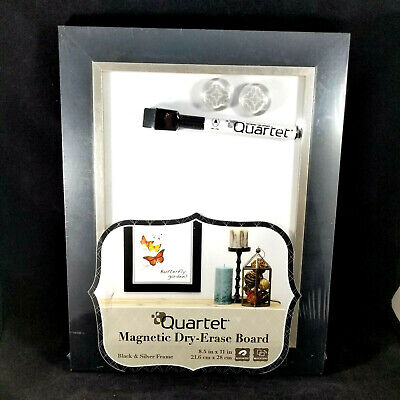 Quartet Dry Erase Board Magnetic 8-12 X 11 Black Silver New In Package