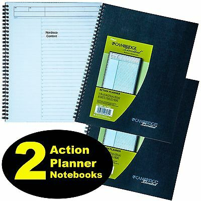 2 Each,Mead 06064 Cambridge Limited Action Planner Notebook, 11x8-1/4