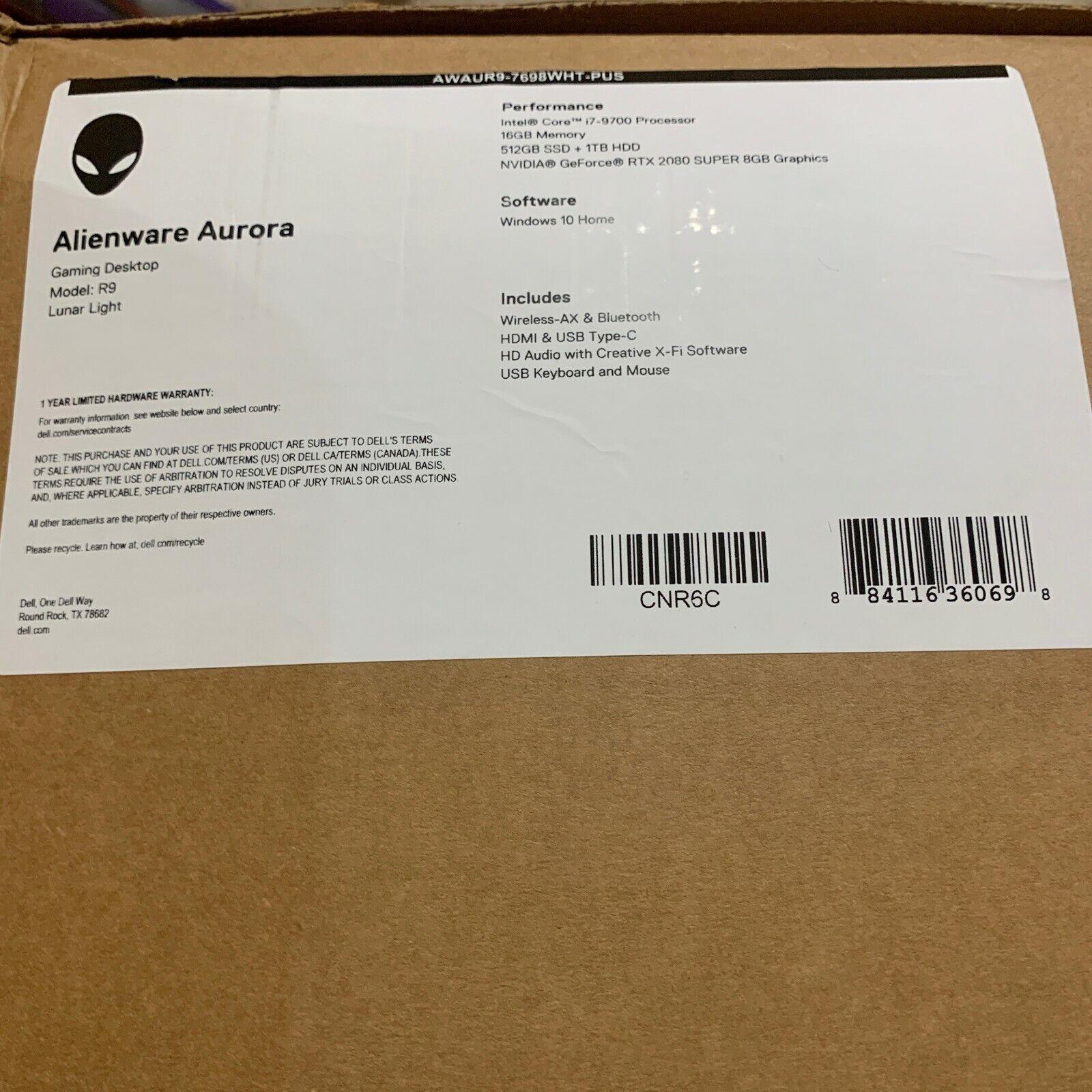 Alienware - Aurora R9 Gaming Desktop - Intel Core i7-9700 -