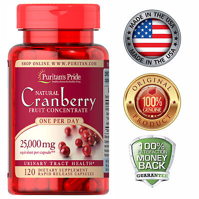 Puritan's Pride One A Day Cranberry - 120 Capsules Free Shipping USA Seller