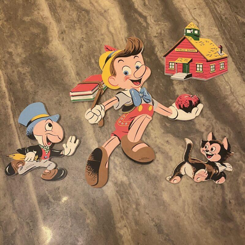 Vintage Disney Disneyland Pinocchio Pin Ups  w/ Orig. Box by Dolly To Co.