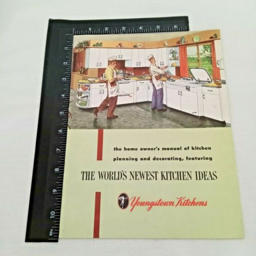 Vtg 1952 Youngstown Kitchens Styles & Acessories 23 Page Color Booklet Brochure