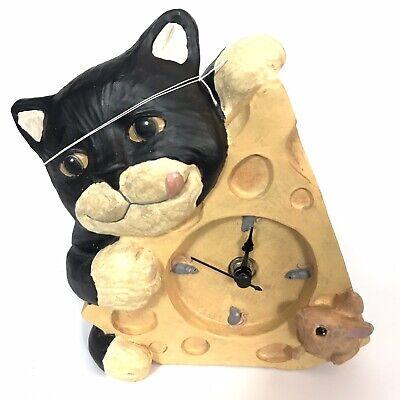 Figi Graphics 1995 NIB Vintage Say Cheeze Cat Clock Item# CK-CT-201