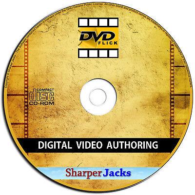 NEW & Fast Ship! DVD Flick Convert Any Video to DVD - AVI, DIVX, FLV, MOV, WMV Flv Mov Converter