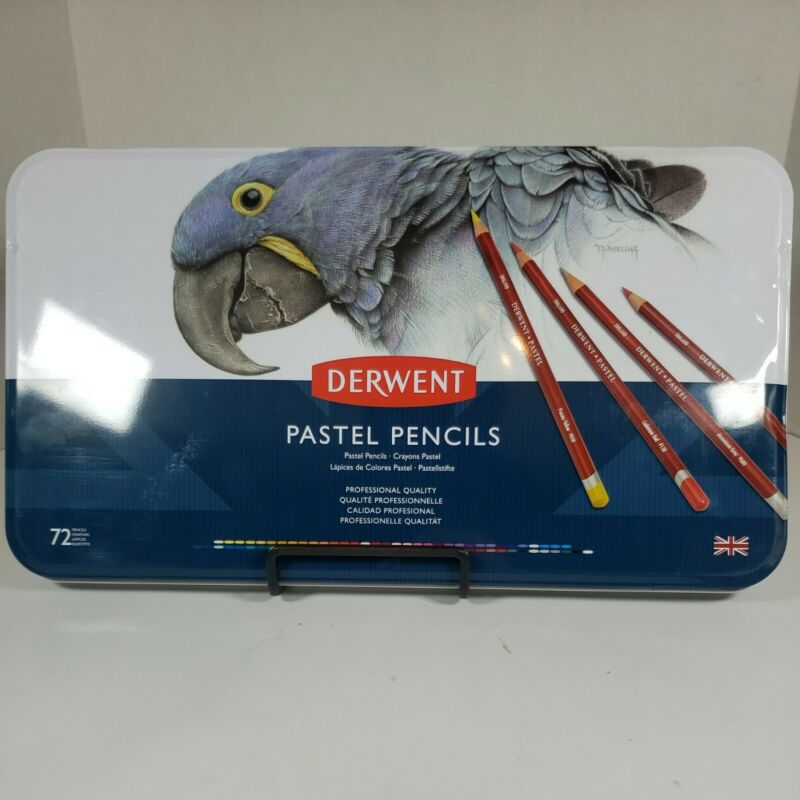 Derwent Pastel Pencils 72 Count Tin NEW SEALED
