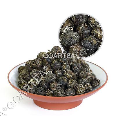 GOARTEA Hand Roll Organic Premium King Jasmine Dragon Pearl Chinese GREEN TEA
