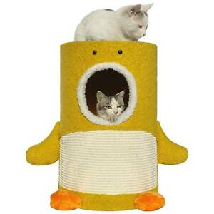 Mohan sisal cat barrel tower condo scratching with post wall big perch
