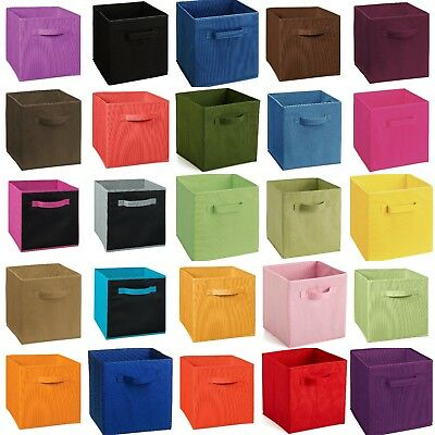 Foldable Storage Cube Basket Bins Organizer Box Closet Container Fabric Drawers