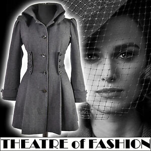 TOPSHOP-CORSET-COAT-JACKET-VINTAGE-40s-WAR-BRIDE-50s-VICTORIAN-RIDING-MILITARY